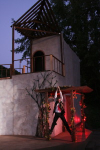 "The murder of Hieronomo's only son, Horatio (played by Erik Johnson, pictured), sets off a chain of murderous events in Marin Shakespeare Company's outdoor production of ""The Spanish Tragedy."" Photo by Eric Chazankin"