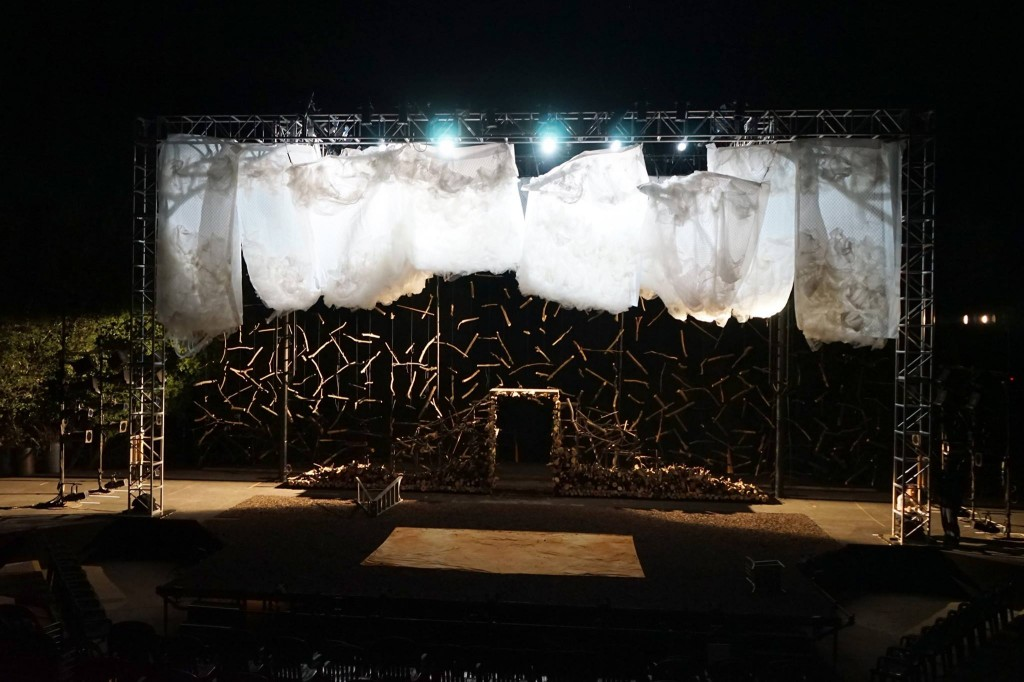 The set for Midsummer at CalShakes