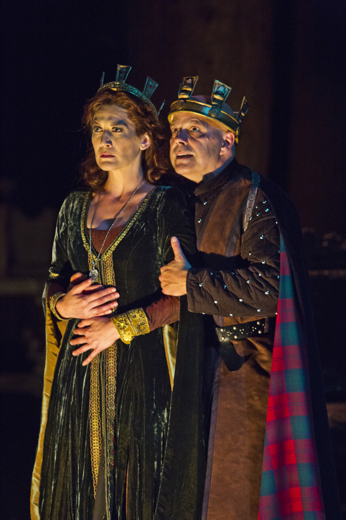 Melinda Parrett (Lady Macbeth) and Steve Pickering (Macbeth).  Photo by rr jones.