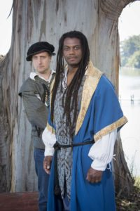 Dameion Brown as Othello, Cassidy Brown as Iago